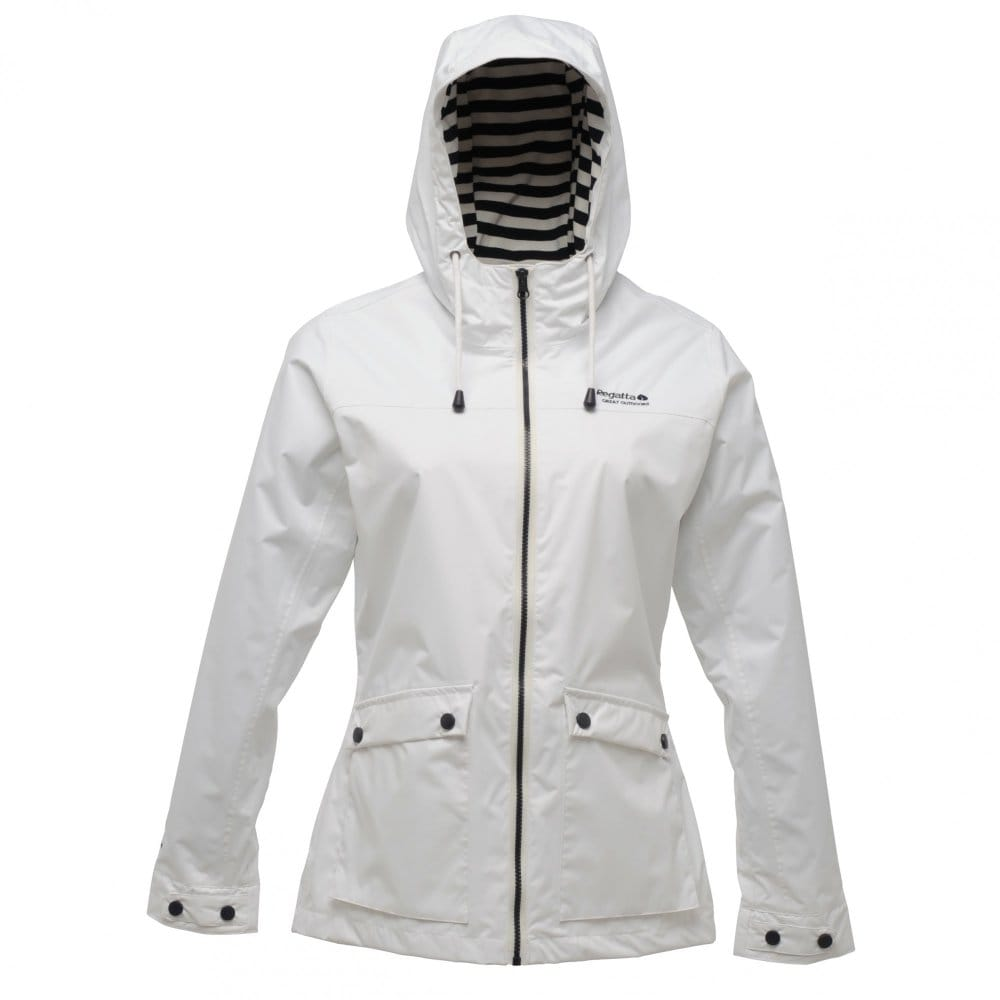 White Waterproof Jacket Ladies - Pl Jackets