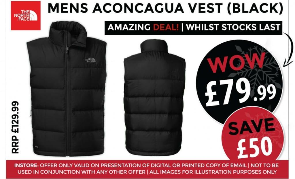 The North Face Mens Aconcagua Vest Black