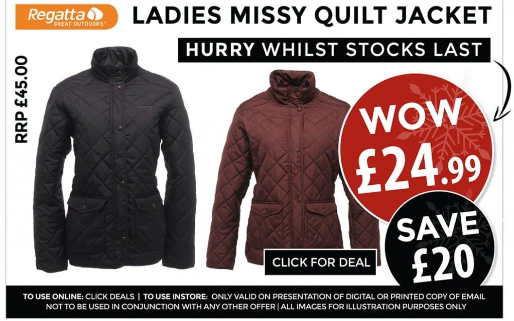 Regatta Missy Quilt Jacket - £24.99