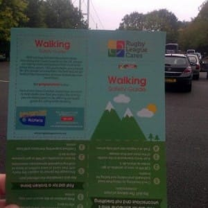 RL Cares Walking Safety Leaflet