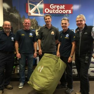 Mountain Rescue Team & Vango at Great Outdoors Superstore