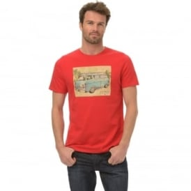 Animal Mens Camper T-Shirt SJ036 Bright Red 2XL