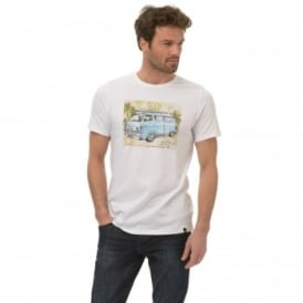 Animal Mens Camper T-Shirt SJ036 White 2XL