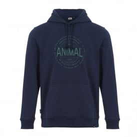 Mens Hills Fleece Hoody Dark Navy