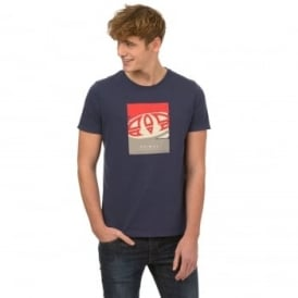 Animal Mens Llaw T-Shirt SJ037 Indigo 2XL
