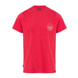 Mens Outdoors Crew T-Shirt Mars Red