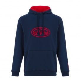 Mens Sabre Fleece Hoody Dark Navy