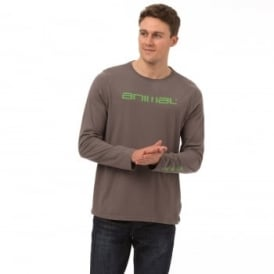 Animal Mens Utako Long Sleeve T-Shirt SJ100 Pewter 2XL