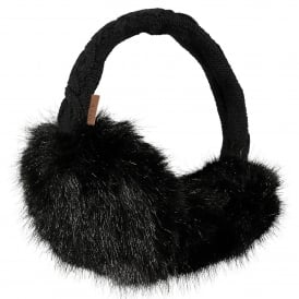 Ladies Fur Earmuffs Black