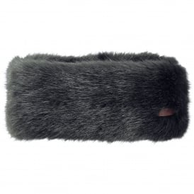 Ladies Fur Headband Grey