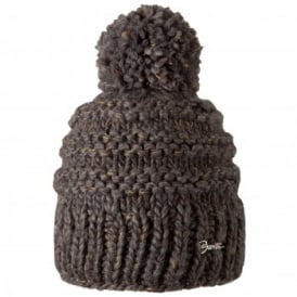 Ladies Jasmin Beanie Heather Brown