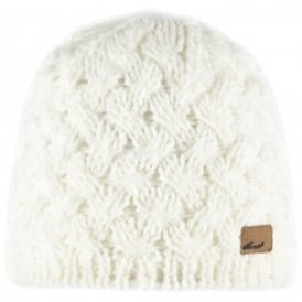 Ladies Swirlie Beanie White