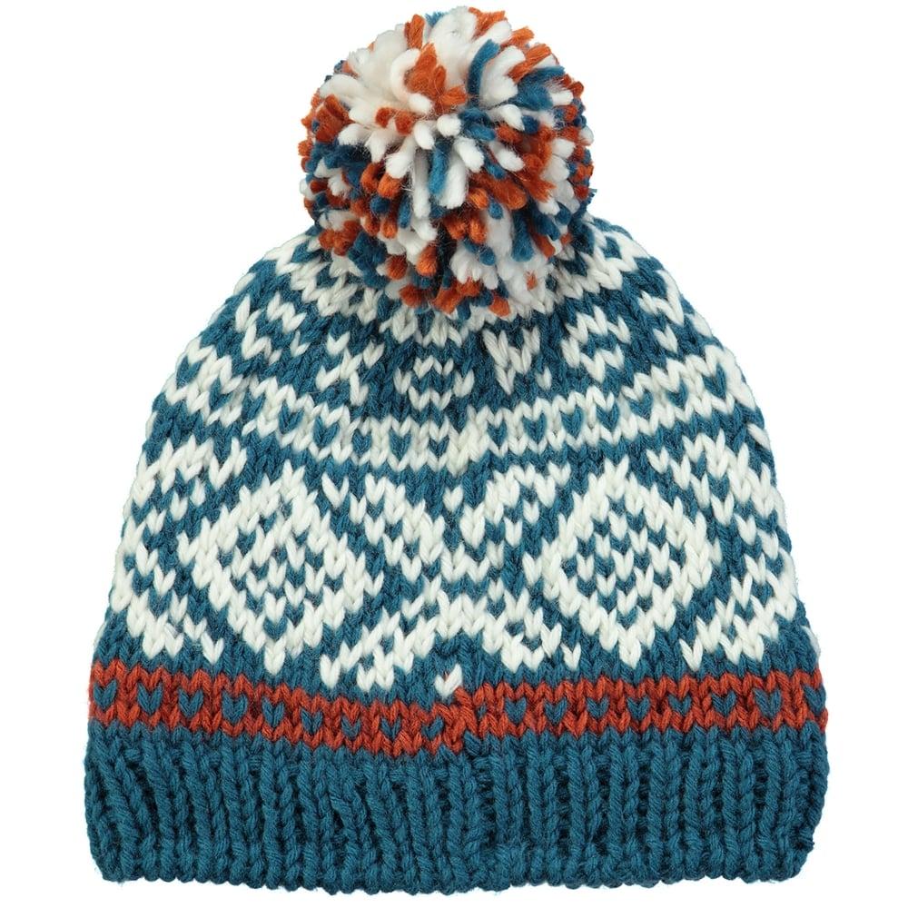 Blue Kids Outdoor Barts Log Cabin Beanie Hats Kids
