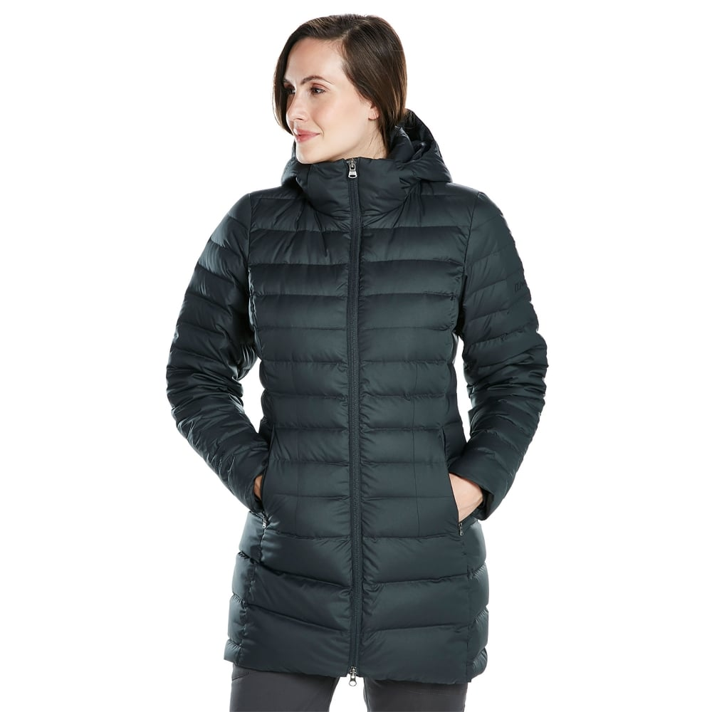 a2f0f89cd Ladies Hudsonian Long Down Jacket Black/Black