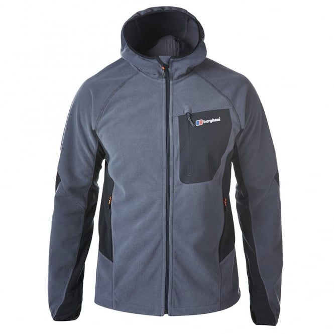 Berghaus Mens Ben Oss Fleece Hooded Jacket Carbon/Black - Mens ...