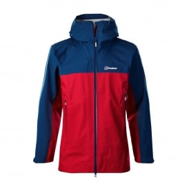 Mens Cape Wrath Jacket Haute Red/Deep Water