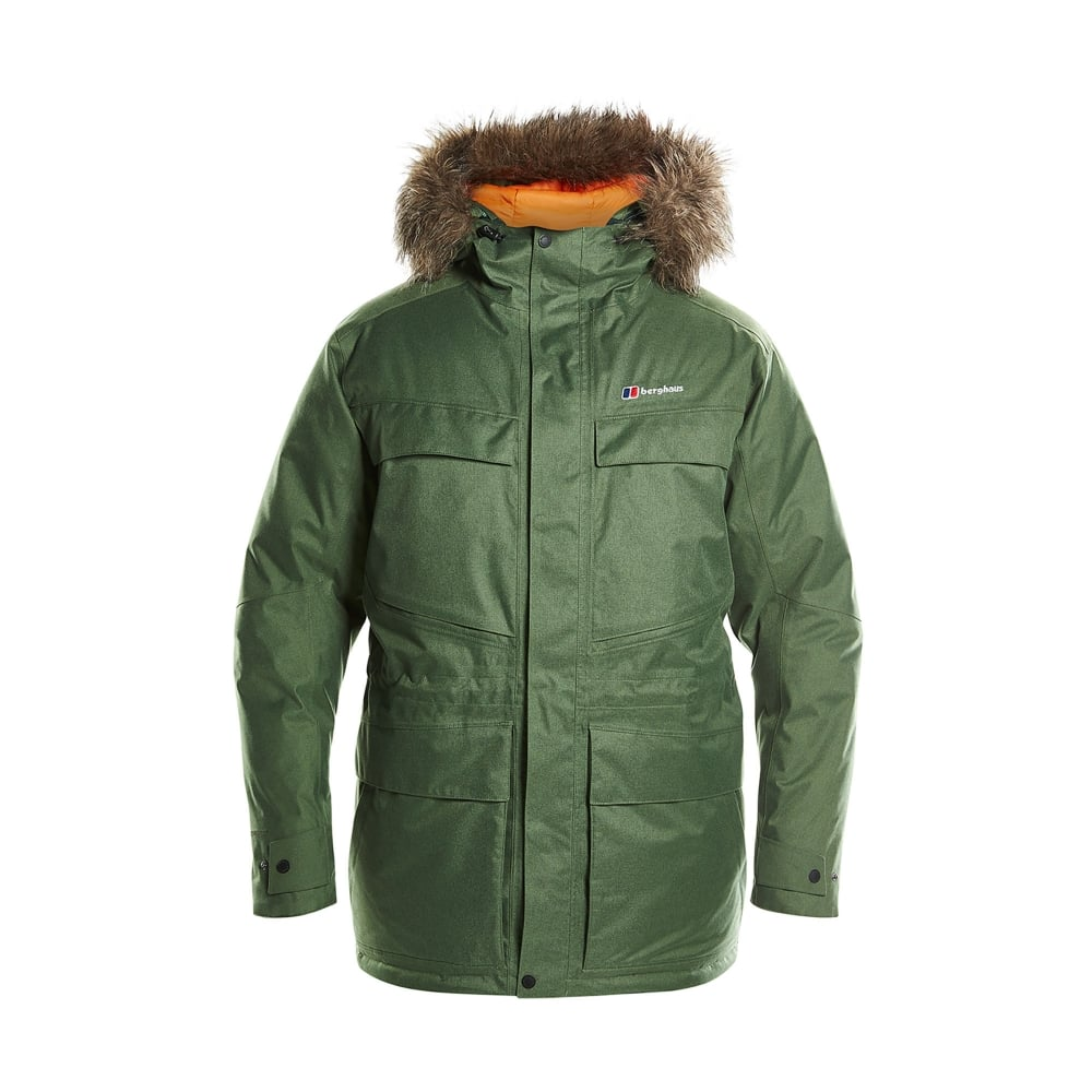 Berghaus Mens Hudsonian Down Parka Bronze Green Mens From Great Outdoors Uk