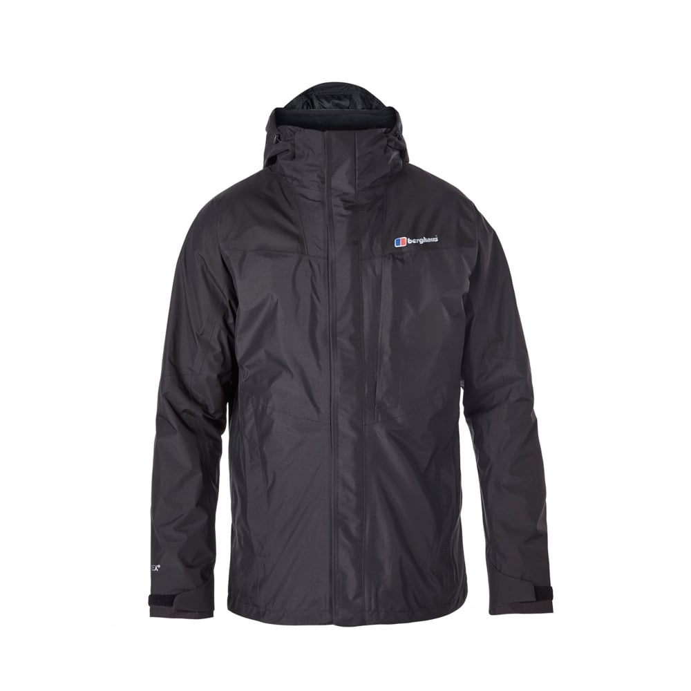 1ad9435e7 Berghaus Mens Island Peak 3 in 1 Jacket Black - Mens from Great ...