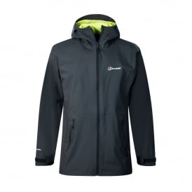 Mens Stormcloud Jacket Carbon (Lime Green)