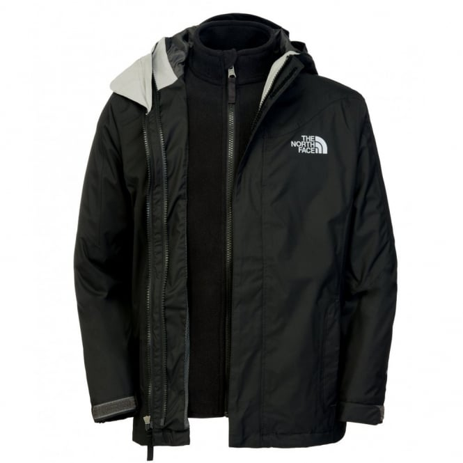 77fb9c296e8f The North Face Boys Evolution Triclimate 3-1 Jacket Black Reflective