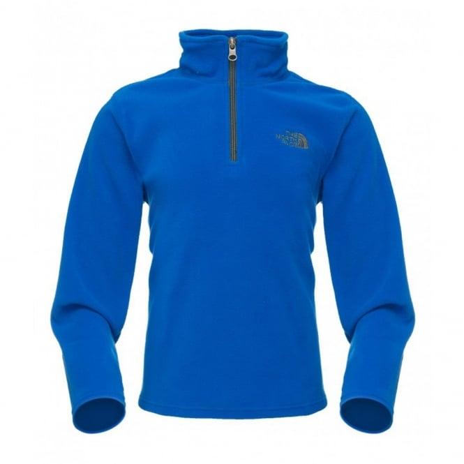 dd5695444 The North Face Boys Glacier 1/4 Zip Fleece Nautical Blue