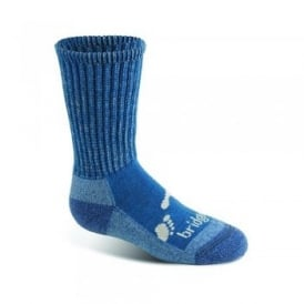Boys Wool Fusion Trekker Junior Sock Storm