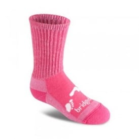 Girls Wool Fusion Trekker Sock Junior Pink