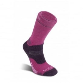 Ladies Wool Fusion Trekker Sock Berry