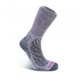 Mens Merino Fusion Trail Sock Grey