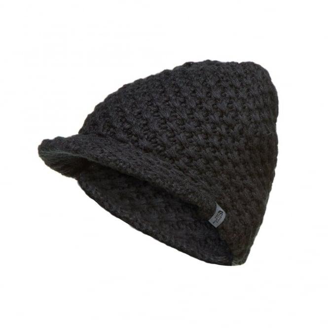 4a6316d0a Chunky Knit Visor Beanie Black
