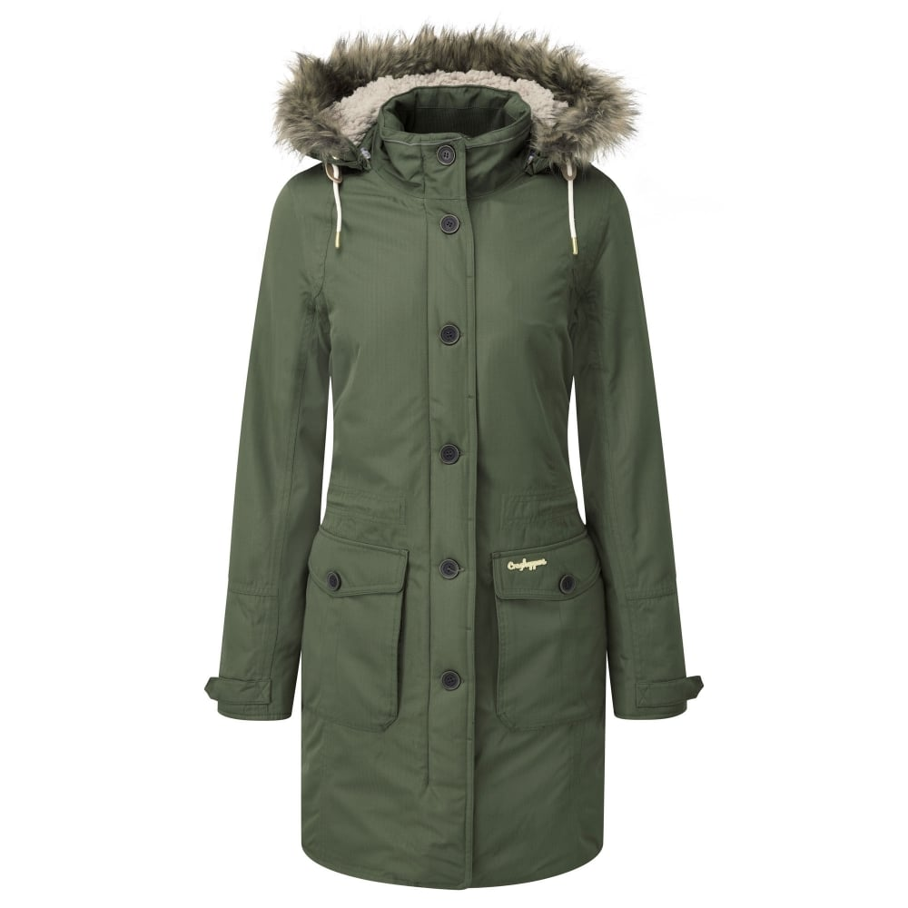 Craghoppers Ladies Cayley Parka Parka Green - Ladies from Great ...