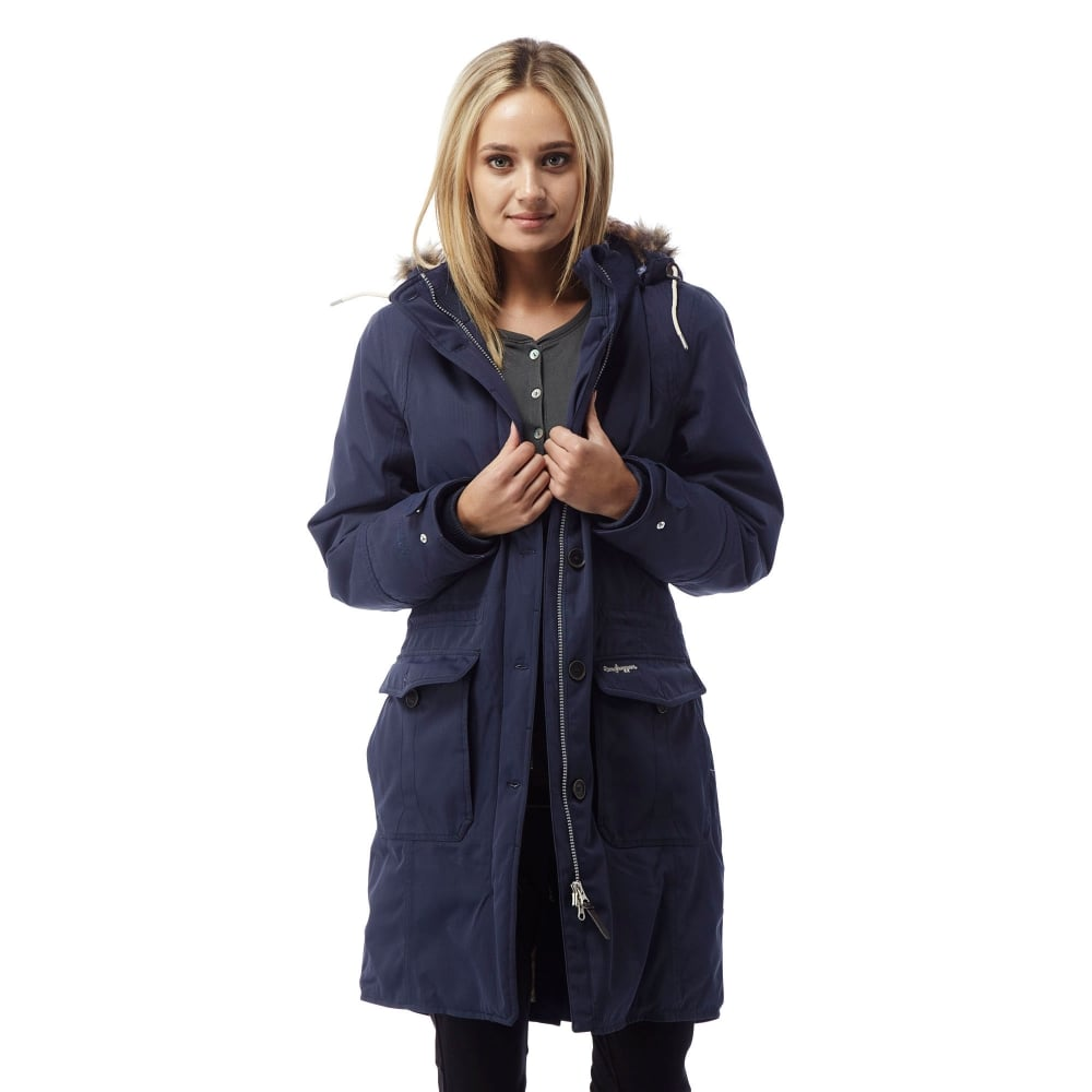Craghoppers Ladies Cayley Parka Soft Navy - Ladies from Great ...