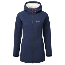 Ladies Eada Hooded Softshell Night Blue