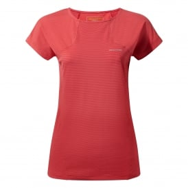 Ladies Fusion Short Sleeve T-Shirt Fiesta Red