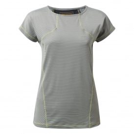 Ladies Fusion Short Sleeve T-Shirt Platinum