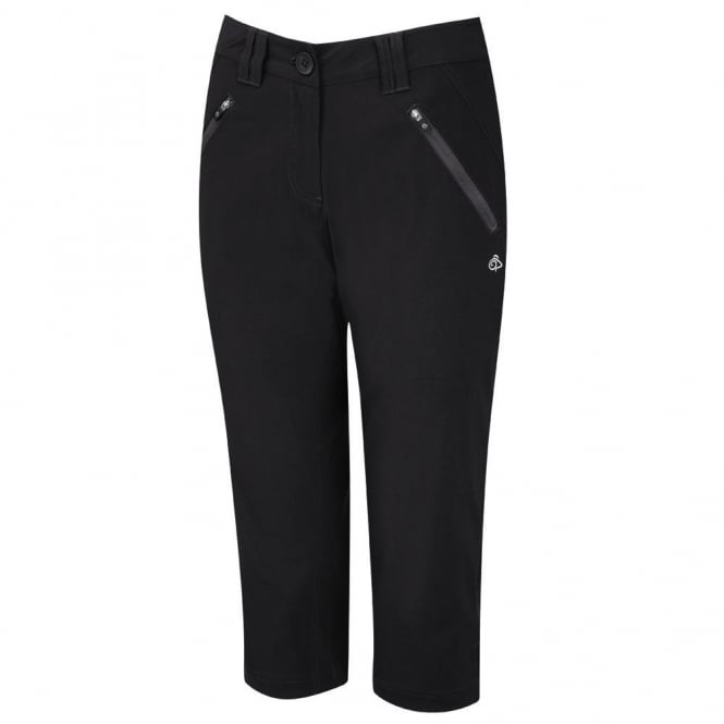 Craghoppers Ladies Kiwi Pro Stretch II Capri Black