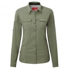 Ladies Nosilife Adventure Long Sleeve Shirt Soft Moss