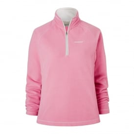 Ladies Seline Half Zip Fleece English Rose