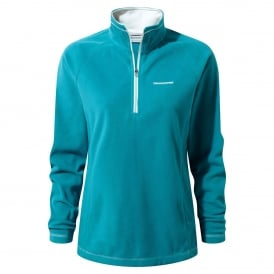 Ladies Seline Half Zip Fleece Forest Teal
