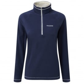 Ladies Seline Half Zip Fleece Night Blue