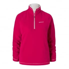 Ladies Seline Half Zip Fleece Tropical Pink