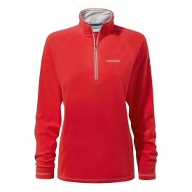 Ladies Seline Half Zip Fleece Venetian Red