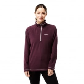 Ladies Seline Half Zip Fleece Winterberry