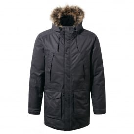 Mens Argyle Parka Black Pepper
