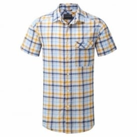 Mens Avery Short Sleeve Shirt Dusk Blue