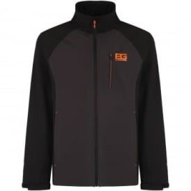 Mens Bear Core Softshell Jacket Black Pepper