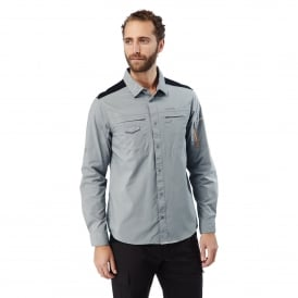 Mens DA Long Sleeve Shirt Quarry Grey