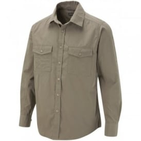 Mens Kiwi Long Sleeve Shirt Pebble