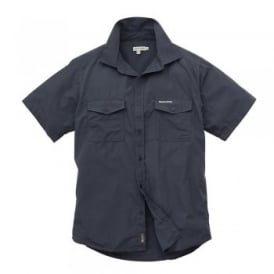 Mens Kiwi Short Sleeve Shirt Faded Indigo