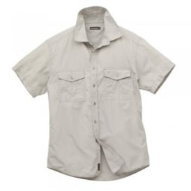 Mens Kiwi Short Sleeve Shirt Oatmeal